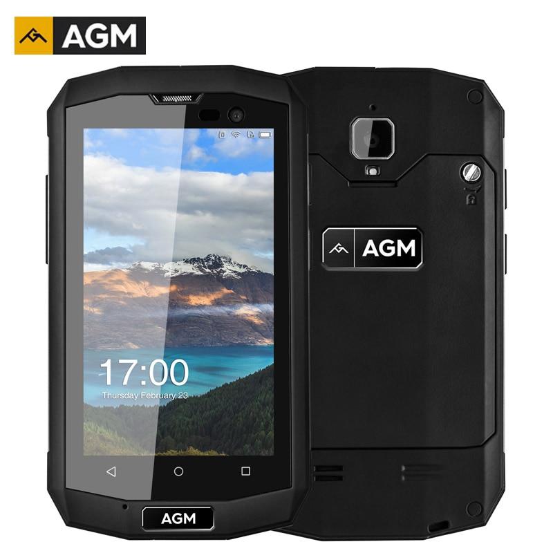 AGM A8 Mini IP68 Antichoc Smartphone 4 Pouce 1 GB RAM + 8 GB ROM Android 5.1 Quad Core 8.0MP 2600 mAh LTE 4G Téléphones portables Étanches