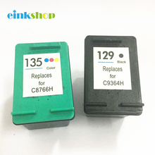 Ink Cartridges For HP 129 135 Black & Color Photosmart 2573 2575 C4188 C4150 Deskjet 5941 5943 D4145 D4155 D4160