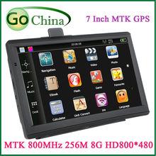 iaotuGo 10 pcs/lot 7inch Car GPS Navigator MTK800MHz 256M 8G FM navegador movimento de navios free new maps