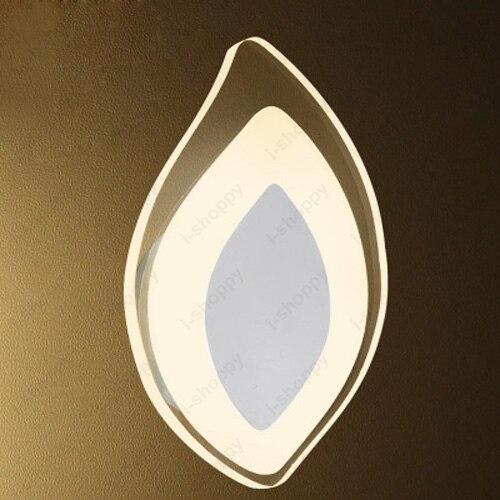 4w Wall Sconce Light Acrylic Bedside Lamp Fixture Leaf