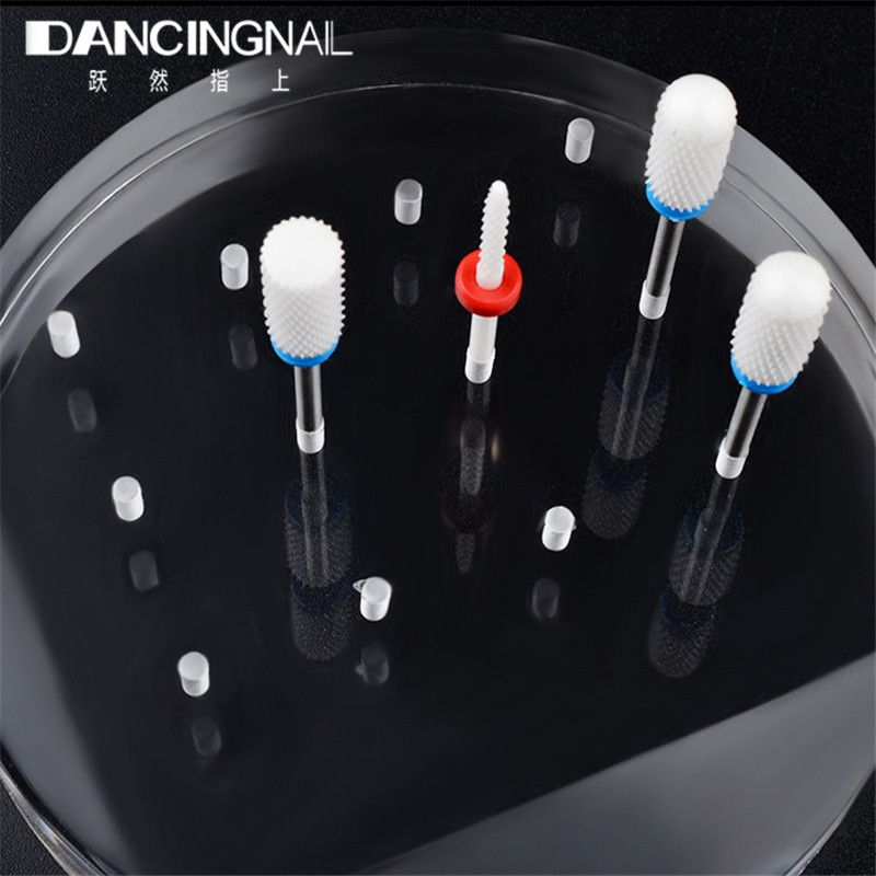 12 Acrylic Holes Nail Drill Bit Stand Display Holder Clear Exhibition Grinding Stone Head Base Show Shelf Storage Mnaicure Dolly