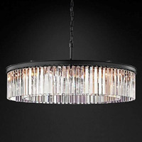 American Style  Chandelier Round Shape Crystal Chandelier Luminaires Hanging Light for living room Restaurant Crystal Style Lamp