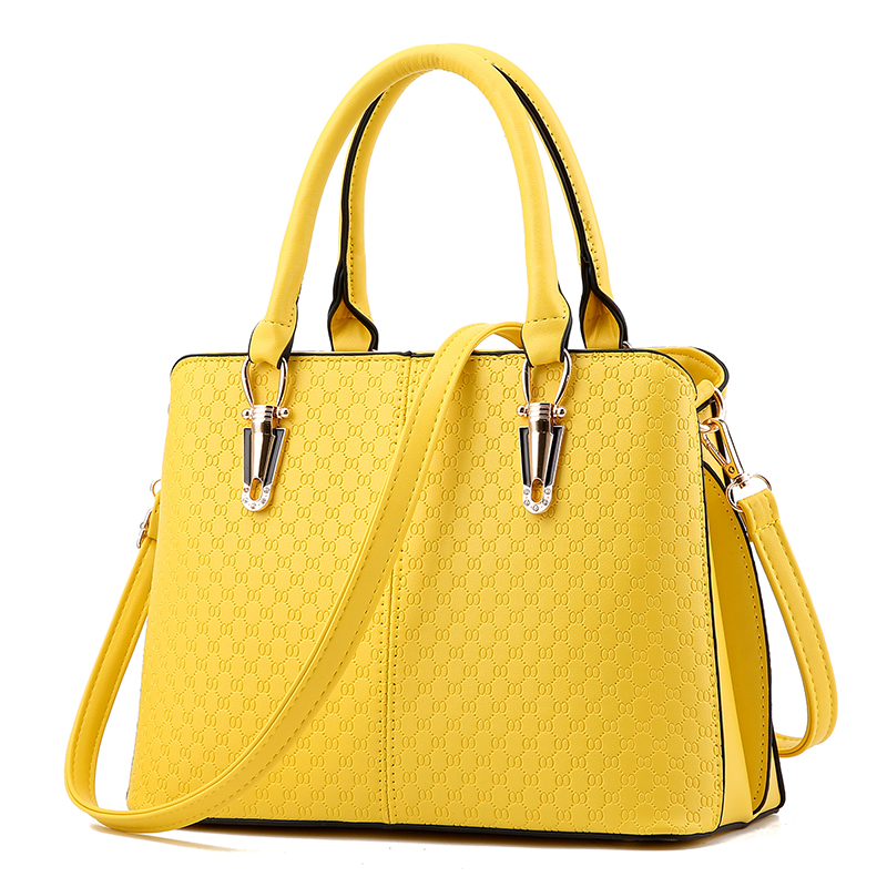 ФОТО PROMOTION!New Fashion Famous Designers Brand Hard Handbags Women PU LEATHER BAGS/Single Shoulder Tote Bags YELLOW SY1107