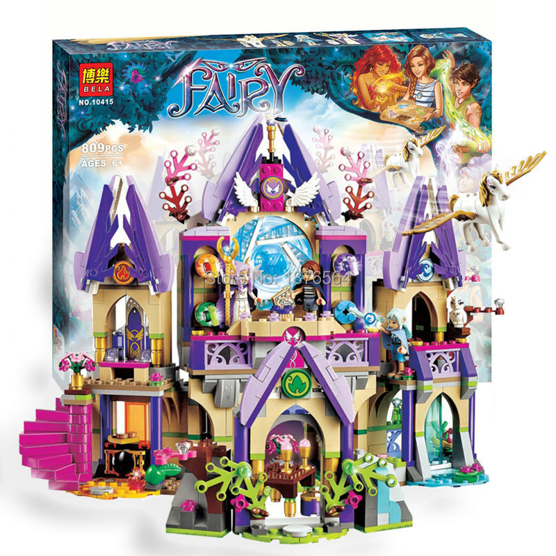 809PCS new 10415 Elves Azari/Aira/Naida/Emily Jones Sky Castle Fortress  Building Block Toys 2017 10415 elves azari aira naida emily jones sky castle fortress building blocks toy gift for girls compatible lepin bricks