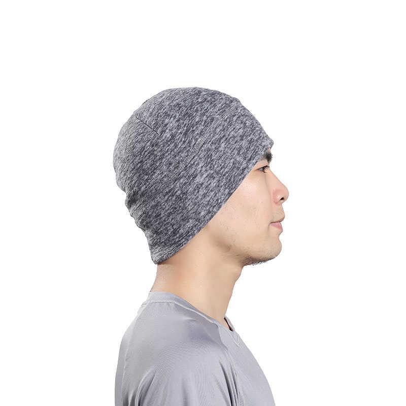 Велоспорт Кепки флис Утепленная одежда мужские зимние шапочки утолщенной Термальность головные банданы для наружного бег Лыжный спорт спортивная шапка для сноубординга