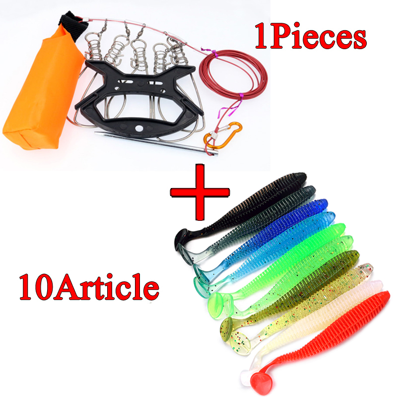 Vissen Fish Lock 3.8m Stainless Steel Line Live Fish Buckle Pesca Accessories Fishing Tackle Tool Chain Stringer With Float
