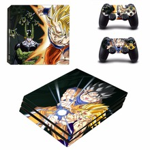 dragon ball vinyl Decal Skin Sticker For Sony Playstation 4 PS4 Pro promotion Console Flims +2Pcs Controller