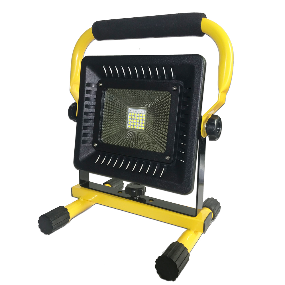 50W Flood Light LED Outdoor Floodlight Camping Work Light Portable Lantern Spot Rechargeable 18650 Led Spotlight With AC Charger cob led flood light dimmable 100w portable led floodlight cordless work light rechargeable spot outdoor working camping lamp