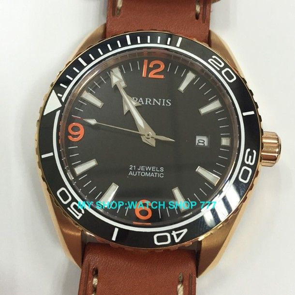 sapphire Crystal Free shipping 42mm PARNIS Brand watch Automatic machinery movement limited edition watch men watches