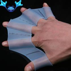 Лягушка силиконовая руки Плавание ming плавники наручники ласты Плавание ладони пальцем перепончатые перчатки весло улучшения скольжения