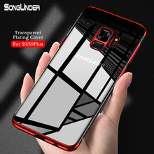 For Samsung Galaxy S9 Plus Case Cover Plain Clear Plating TPU Soft Silicone Back GalaxyS9 S9Plus Phone Coque