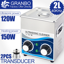 120 W 2L Ultrasonic Cleaner ฟังก์ชั่น 40 khz 110 V/220 V Ultrasonic เครื่องซักผ้าฮาร์ดแวร์หัวฉีด Spark Plug น้ำมันป้องกันสนิมหัวฉีดกำจัด