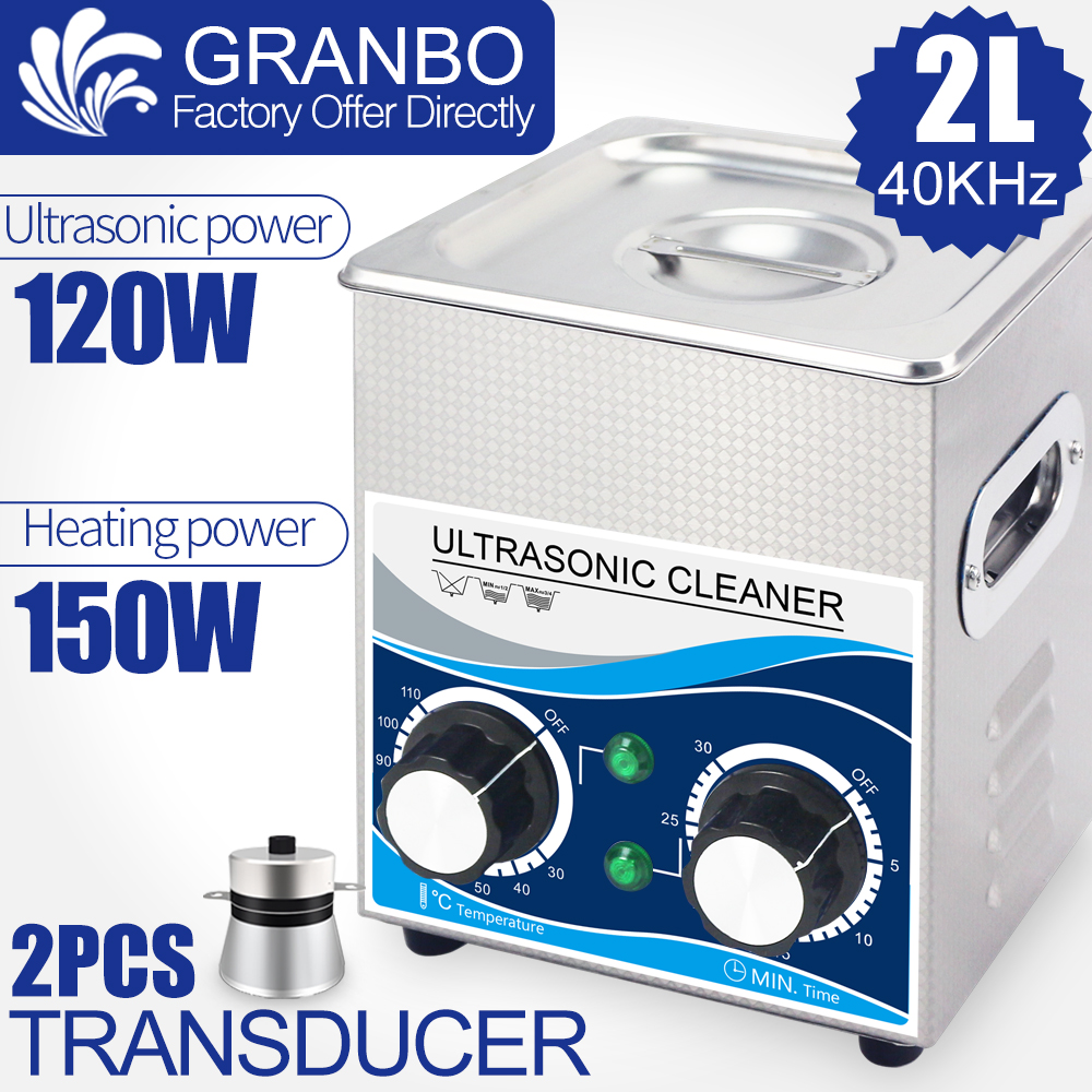 120W 2L Ultrasonic Cleaner Multi Function 40khz 110V/220V Ultrasound Washer Hardware Injector Spark Plug Rust Oil Nozzle Removal