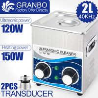Limpiador ultrasónico de 120W 2 l Multi función 40khz 110 V/220 V, equipo de lavado con ultrasonido, inyector de bujía, eliminación de la boquilla de aceite de óxido