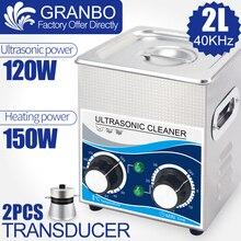 Nettoyeur à ultrasons 120W, 2l, matériel de lavage à ultrasons multifonction, 40khz, 110V/220V, injecteur, bougie dallumage, élimination de la rouille