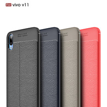 Case For VIVO V11 Pro 6.41 inch Silicone Soft Bumper Carbon Fiber Back Cover Shockproof Coque Fundas