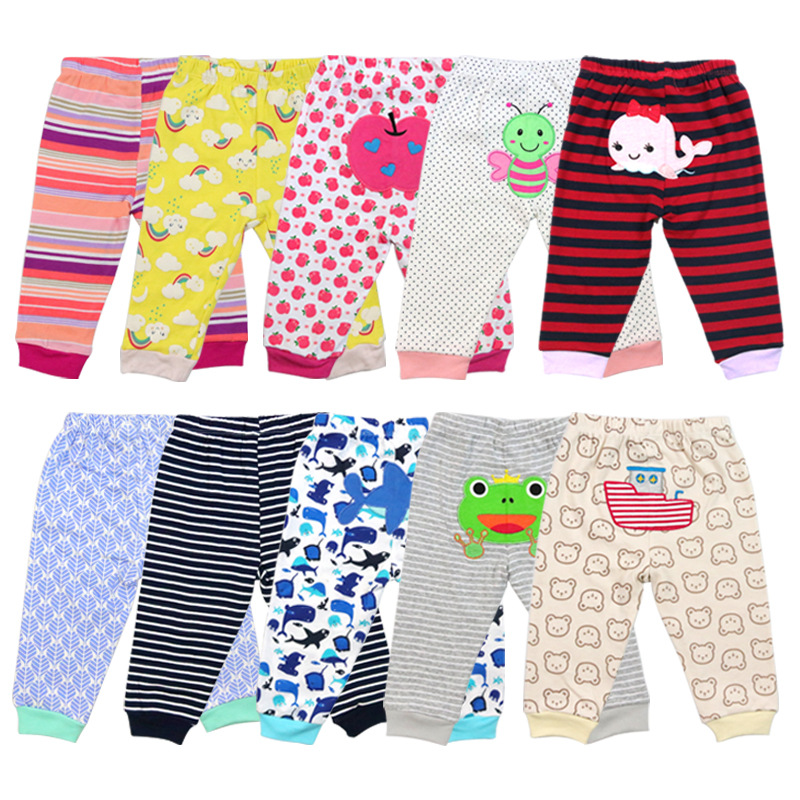 2Pcs/lot Newborn Baby Pants Spring Baby Girl Clothes Cartoon Infant Trousers Autumn Baby Boy Clothing Roupas Bebe Kids Clothes