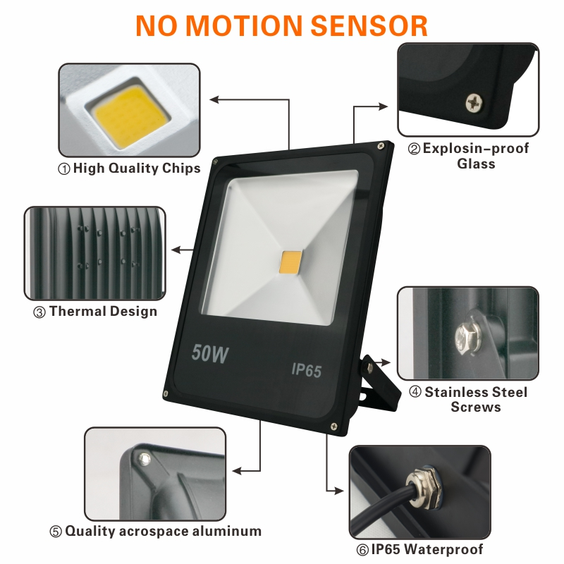 LATTUSO Motion Sensor Led Flood Light 10W 20W 30W 50W Wall Washer Lamp IP65 Waterproof 220V Outdoor Spotlight Floodlight in Floodlights from Lights Lighting