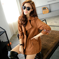2016 women Female coat  Elegant Trench Coat Designer Belted 3 Colors S-L Size Trench Outerwear trench coats