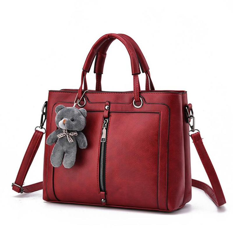21club brand medium large capacity ladies totes zipper bear strap thread shopping office women crossbody shoulder bag handbags 3