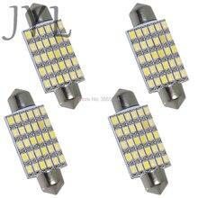 4PCS 42mm 30smd 3020 White Warm white LED Bulbs for Car Interior Dome Light 1.72 Festoon 212-2 560