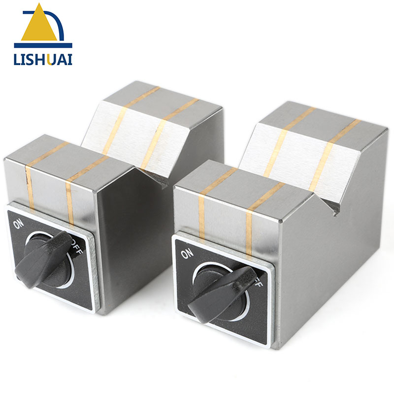 On/Off Switch Permanent Magnetic V Block Chuck/Magnetic Workholding V Block Sets 70*40*50mm 2pcs Set