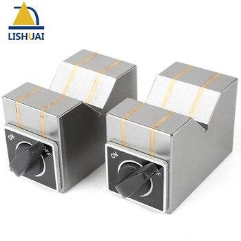 On/Off Switch Permanent Magnetic V Block Chuck/Magnetic Workholding V Block Sets 70*40*50mm 2pcs Set
