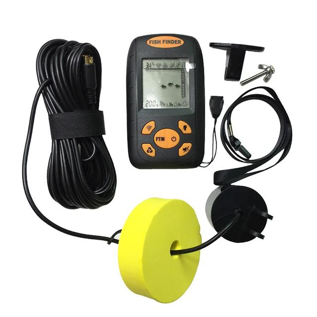 Best Offers  New 100M Portable Sonar LCD Fish Finder Equipment Wired Alarm Fishing Fishfinder