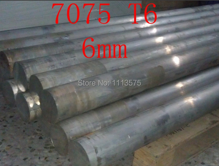 6mm 7075 T6  Aluminium Solid Round Bar Al Rod