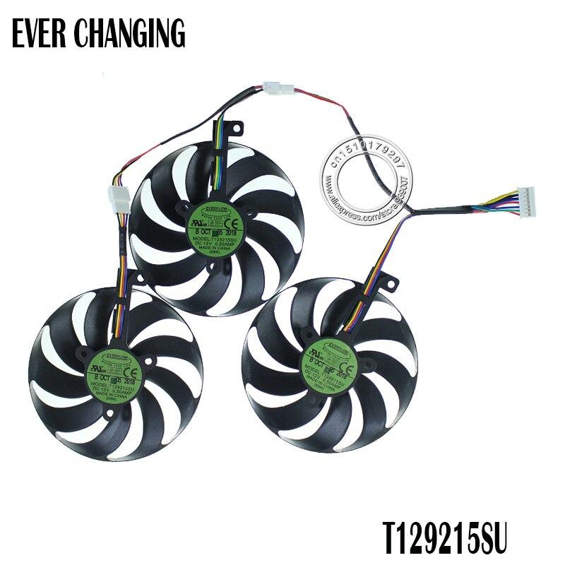 3pcs/set T129215SU 7Pin GPU Card Cooler Fans For ASUS ROG STRIX-GeForce RTX 2080 2080 Ti GAMING RTX2080 RTX2080Ti Fan