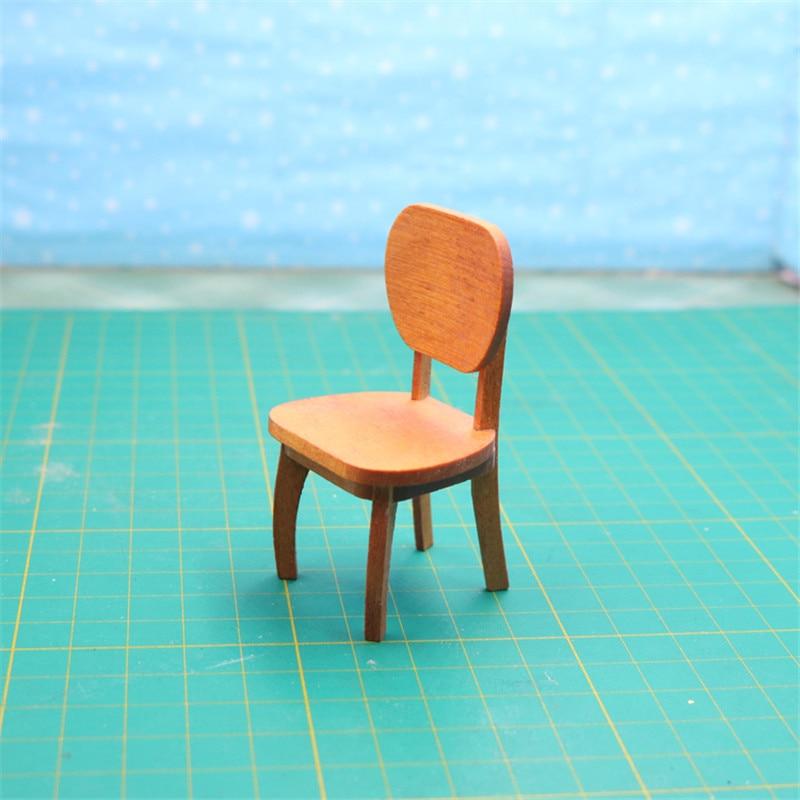 Doub K 1:12 dollhouse furniture for dolls kawaii miniature wooden chair girls children kid pretend play toys gifts Furniture toy