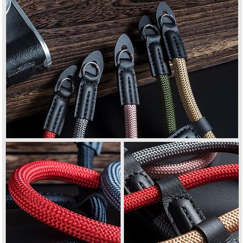 اليدوية النايلون كاميرا رقمية المعصم اليد حزام قبضة Paracord مضفر معصمه ل فوجي X-T20 T30 X-T1 X-T2 X-E3 X-T10 X-H1 X-A2