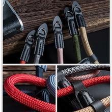Fait à la main pour Appareil Photo Numérique en nylon Poignet Dragonne Poignée Paracord Bracelet Tressé pour Fuji X T20 T30 X T2 X 100V X T4 X T200 X A7