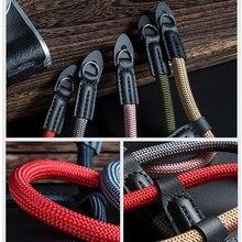 Fatti a mano di nylon Macchina Fotografica Digitale Cinturino Da Polso Della Mano Grip Cordini Di Sicurezza Intrecciato Wristband per Fuji X T20 T30 X T2 X 100V X T4 X T200 X A7