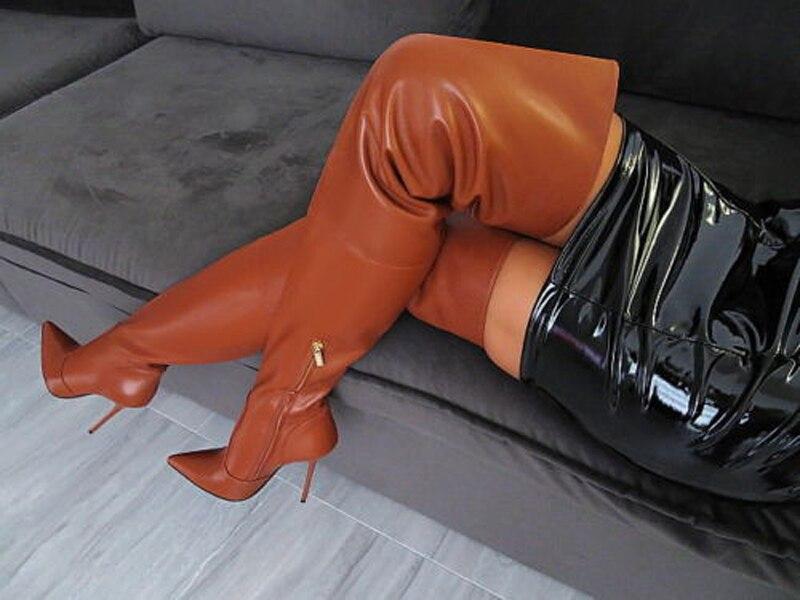 Bout Dames Genou À Hiver En Femmes Stretch Sur Talons Chaussures Longues Pointu Bottes Cuir Aiguilles Cuisse Sexy Automne Le Hauts wxS7tqqa