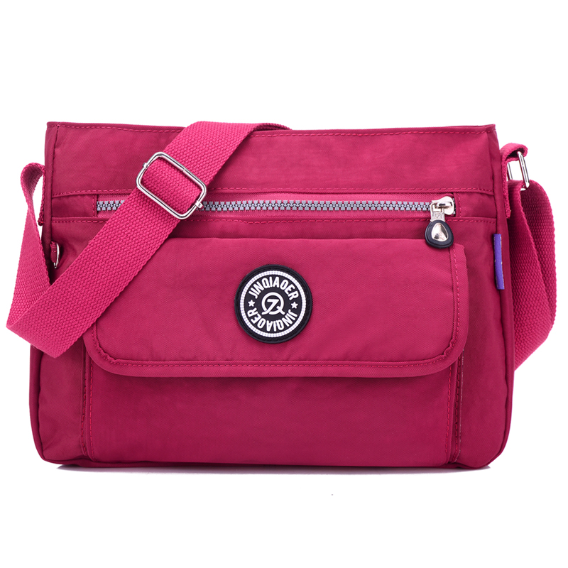 Women Nylon Handbag Brand Monkey Kipled J Bg Pink Original Bag Sac A Main Femme De
