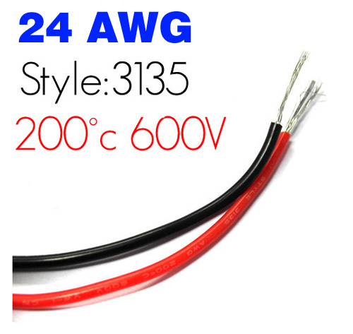 UL3135 24AWG Silicone wire AWG24 Silicone Cable Conductor ...