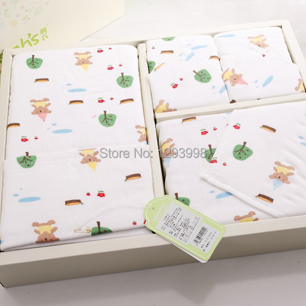 New High Quality 100 Cotton Towels Cartoon Images Gauze With