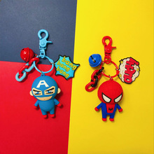 цена Hot Anime Figure Marvel Avengers Keychain Mobile Phone Holder Cute PVC Superhero Batman Spider Man Iron Man Key Chain Key Ring онлайн в 2017 году