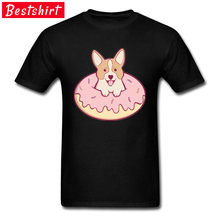 Leuke Donut Hond Thanksgiving Dag Gift Yaoi Ronde Kraag Mannen T Shirts Grappige 3D Digitale Printing Shirts Nieuwste Hentai(China)