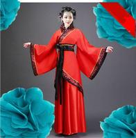 Ancient Chinese Costume Tang Suit Hanfu Cosplay Folk Dance Women's Clothes Costume Red Hanfu Long Dress