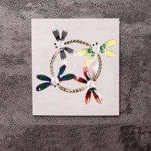 Винтажный дизайн Shinny 4 цвета кристалл стрекоза со стразами броши для женщин платье брошь для шарфа Заколки ювелирные аксессуары