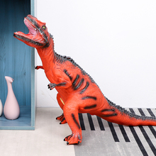 63CM Dinosaur Model Big Size Plastic Puppets Tyrannosaurus Rex Velociraptor Jurassic world Park Toys for Children