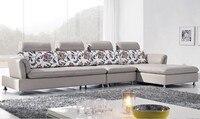 Ücretsiz Kargo İtalya tasarım Lüks En Tahıl deri Köşe kanepe, meşe ahşap çerçeve ile yapılan, yüksek elastik sünger deri kanepe seti