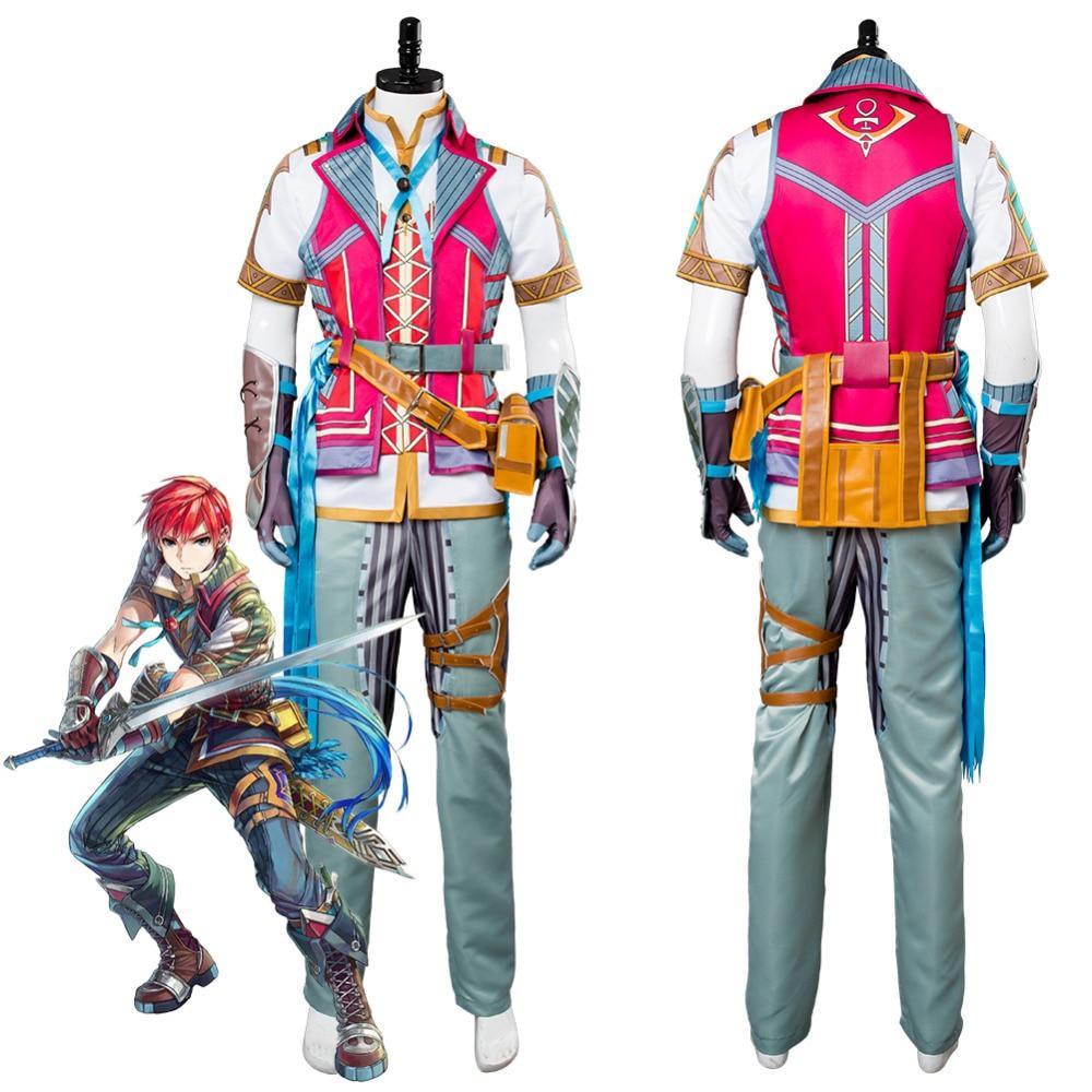 Game Ys VIII: Lacrimosa of Dana Adol Christin Cosplay Costume Adult Men Halloween Carnival Costume Custom Made