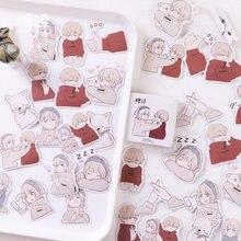 45 unidades/pacote doce casal etiqueta adesivos conjunto decorativo papelaria artesanato adesivos scrapbooking diy vara etiqueta