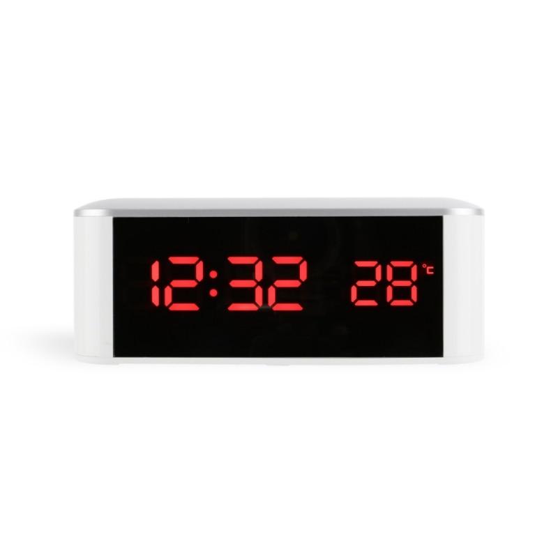 Measurement & Analysis Instruments Earnest Modern Home Decor White Led Alarm Clocks,saat Despertador Temp+date+time Electronic Digital Table Desktop Clocks Temperature Instruments