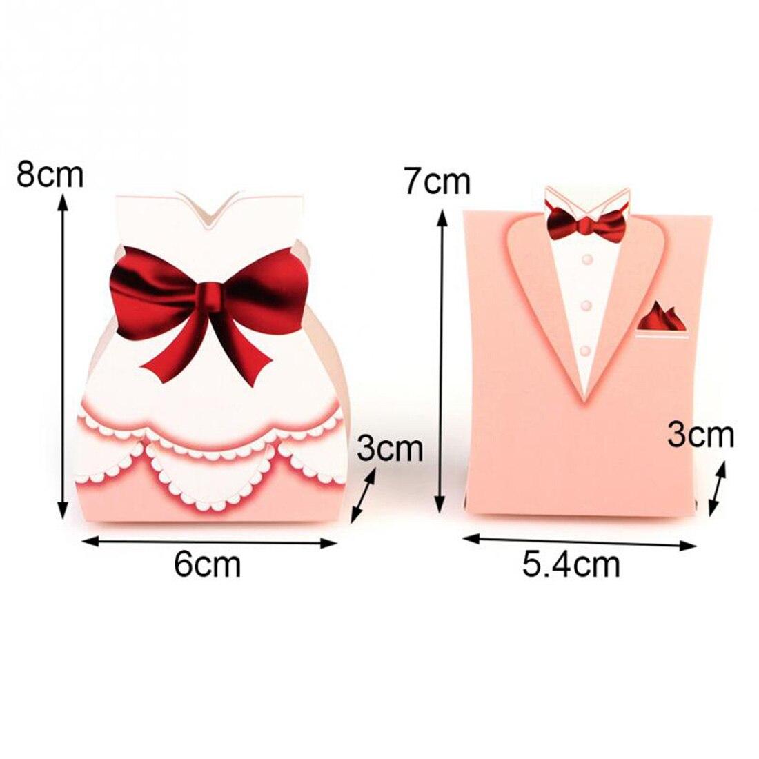 Hot sale50Pcs Fashion Pink Bride Groom Tuxedo Dress Gown Shape ...