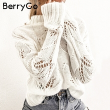 White Jumpers Ladies Tops Sweaters Pullovers Knitted Streetwear Turtleneck Women Casual