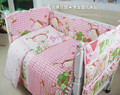 10 pcs/set Sheets+quilt+pillowcase+Quilt+ mattress+filling Baby Crib Bed Linen Cotton Baby Bedding Set Baby Cot Girls Bedclothes